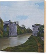 Old Severn Bridge Wood Print