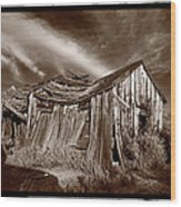 Old Shack Bodie Ghost Town Wood Print