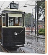 Old Shanghai Trolley Tram Car Rests In Tracks Wood Print