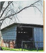 Old Shed 18 Wood Print
