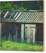 Old Shed Wood Print