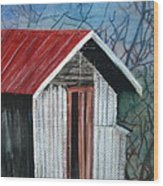 Old Shed Wood Print by Shirley Shepherd