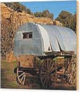 Old Sheepherder's Wagon Wood Print