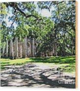 Old Sheldon Church 2 Wood Print