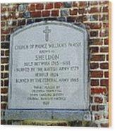 Old Sheldon Church 4 Wood Print