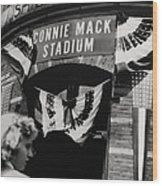 Old Shibe Park - Connie Mack Stadium Wood Print
