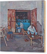 Old Shop Suakin Wood Print