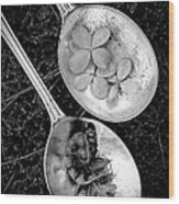 Old Silver Spoons Wood Print