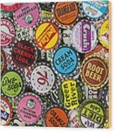 Old Soda Caps  Wood Print by Tim Gainey