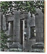 Old Spokane Library W.1st Wood Print