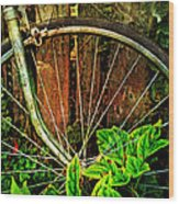 Old Spokes Wood Print