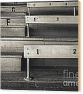 Old Stadium Bleachers Wood Print