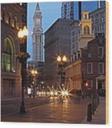 Old State House And Custom House In Boston Wood Print