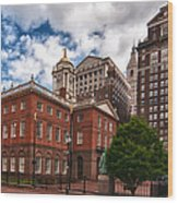 Old State House Wood Print