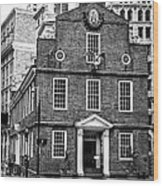 Old State House In Boston Wood Print