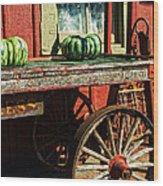Old Station Cart Wood Print