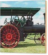 Old Steam Engine Wood Print
