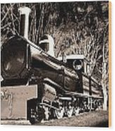 Old Steam Train Wood Print