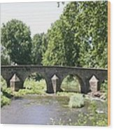 Old Stone Arch Bridge Wood Print
