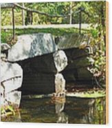 Old Stone Bridge Wood Print by Barbara McDevitt