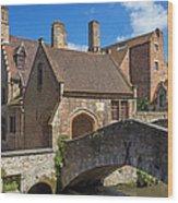 Old Stone Bridge In Bruges  Wood Print