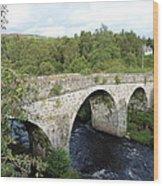 Old Stone Bridge In Scotland Wood Print