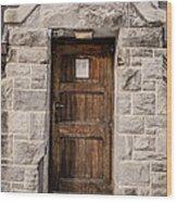 Old Stone Church Door Wood Print