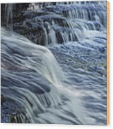 Old Stone Fort Waterfall Wood Print