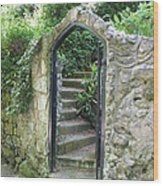 Old Stone Gate Wood Print