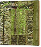 Old Stone House Wood Print