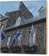 Old Stone Houses In Quebec City Canada  Wood Print