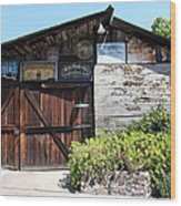 Old Storage Shed At The Swiss Hotel Sonoma California 5d24458 Wood Print by Wingsdomain Art and Photography