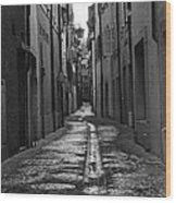 Old Street Wood Print
