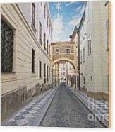 Old Street In Prague Wood Print