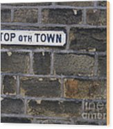 Old Street Sign Wood Print