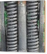 Old Style Vehicle Suspension Wood Print
