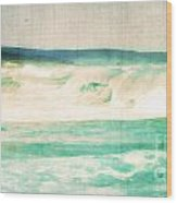 Old Surf Wood Print