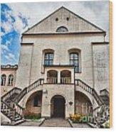 Old Synagogue Izaaka In Kazimierz District Of Krakow Poland Wood Print