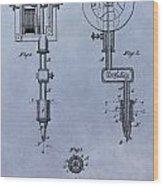 Old Tattoo Gun Patent Wood Print