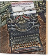 Old Technology Wood Print by Arnie Goldstein