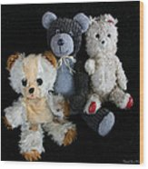 Old Teddy Bears Wood Print