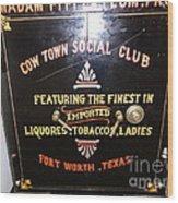 Old Texas Safe Wood Print