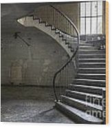 Old Theater Stairs Wood Print