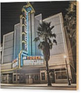 Old Theatre In Roseville California...  Wood Print by Israel Marino