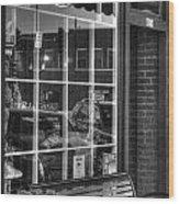 Old Time Barber Shop Wood Print