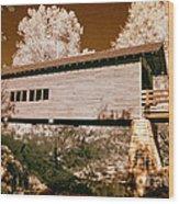 Old Time Covered Bridge Wood Print
