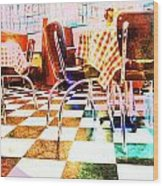 Old Time Diner Wood Print