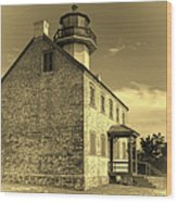 Old Time East Point Light Wood Print