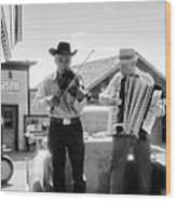 Old Time Musicians Bw Wood Print