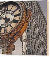 Old Time - Nyc Wood Print by Linda  Parker